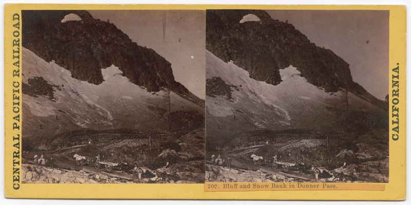 Bluff and snow bank, circa 1863