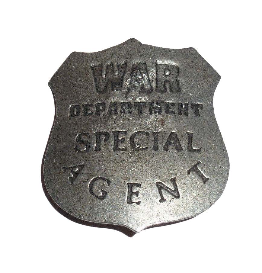 War Department Special Agent Badge