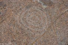 Photo one of the petroglyphs.